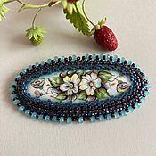 Украшения handmade. Livemaster - original item Brooch Yaroslavna. Enamel, embroidery. Handmade.
