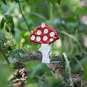 Цветы и флористика handmade. Livemaster - original item Mushroom harvest - Colorful fly agarics. ceramic handmade. Handmade.