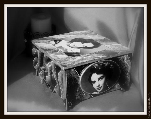 """Шкатулки ручной работы. Ярмарка Мастеров - ручная работа. Купить Шкатулка """"Элизабет"""". Handmade. Чёрно-белый, подарок на любой случай"""