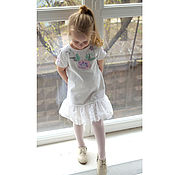 Работы для детей, ручной работы. Ярмарка Мастеров - ручная работа Платье Цветочная нежность. Handmade.