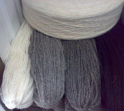 Вязание ручной работы. Ярмарка Мастеров - ручная работа. Купить Шерсть овечья. Handmade. Пряжа для вязания, шерсть, серая, для вязания