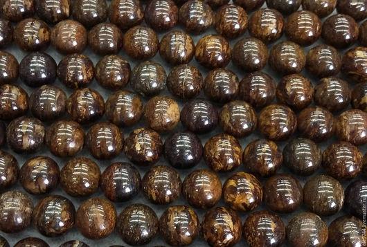 Для украшений ручной работы. Ярмарка Мастеров - ручная работа. Купить Бусины бронзита , шар, гладкий - два размера!!. Handmade.