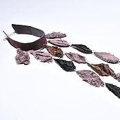 """Украшения ручной работы. Ярмарка Мастеров - ручная работа Колье """"Шоколадный водопад"""". Handmade."""