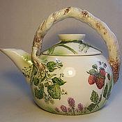"""Посуда ручной работы. Ярмарка Мастеров - ручная работа Чайник """"Летние травы"""". Handmade."""