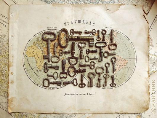 Старинные ключики. Маленькие старинные ключики 19 века.