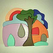 """Пазлы, головоломки ручной работы. Ярмарка Мастеров - ручная работа Пазл деревянный """"Вокруг дома"""". Handmade."""