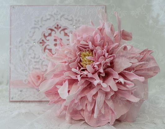 """Броши ручной работы. Ярмарка Мастеров - ручная работа. Купить Нежный """"Фантазийный цветок"""". Handmade. Розовый, фоамиран, цветы в украшении"""