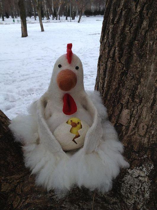 """Кукольный театр ручной работы. Ярмарка Мастеров - ручная работа. Купить перчаточная кукла БИ-Ба-Бо """"Курица с яйцом"""". Handmade."""
