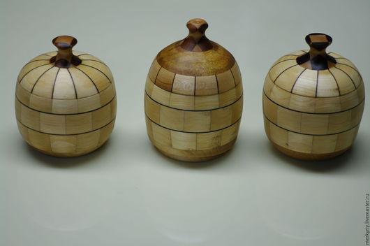 Кухня ручной работы. Ярмарка Мастеров - ручная работа. Купить Деревянные баночки. Handmade. Белый, солонка из дерева