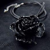 Украшения ручной работы. Ярмарка Мастеров - ручная работа ...Обратная сторона луны...черная роза. Handmade.