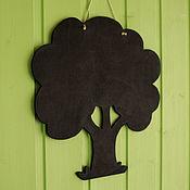 """Для дома и интерьера ручной работы. Ярмарка Мастеров - ручная работа грифельная доска """"дерево"""". Handmade."""