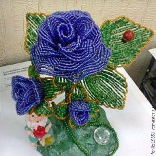 Искусственные растения ручной работы. Ярмарка Мастеров - ручная работа. Купить цветы из бисера. Handmade. Комбинированный, розы искусственные
