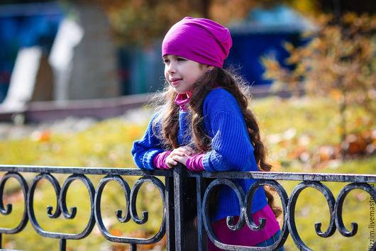"""Одежда для девочек, ручной работы. Ярмарка Мастеров - ручная работа. Купить Детский вязаный пуловер-оверсайз """"Эрика"""" из мягкой полушерсти. Handmade."""