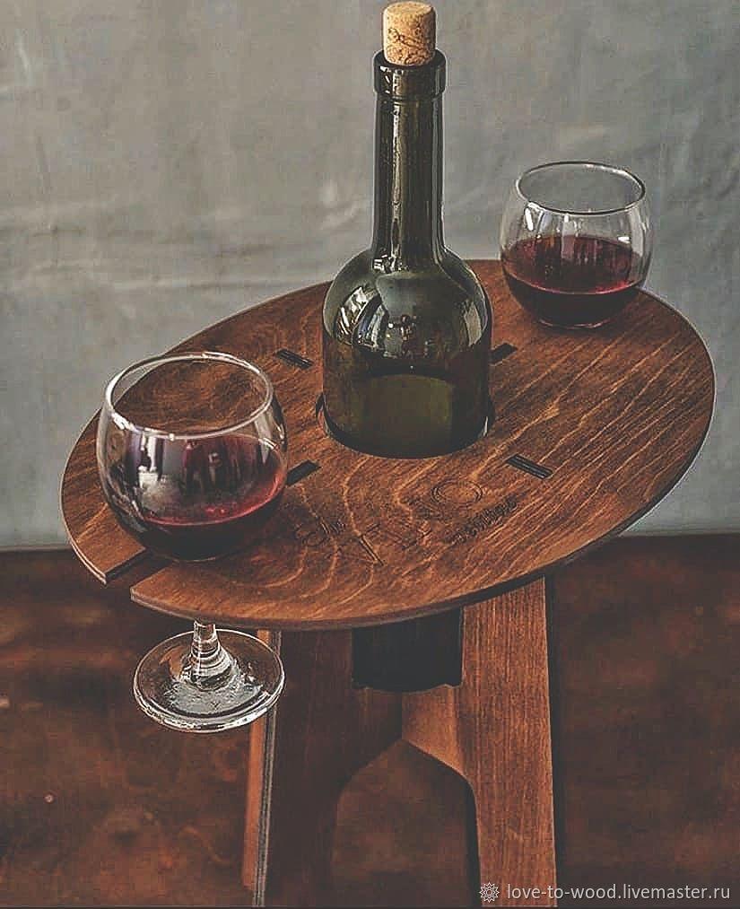 Винный столик из Дерева, Столы, Санкт-Петербург,  Фото №1
