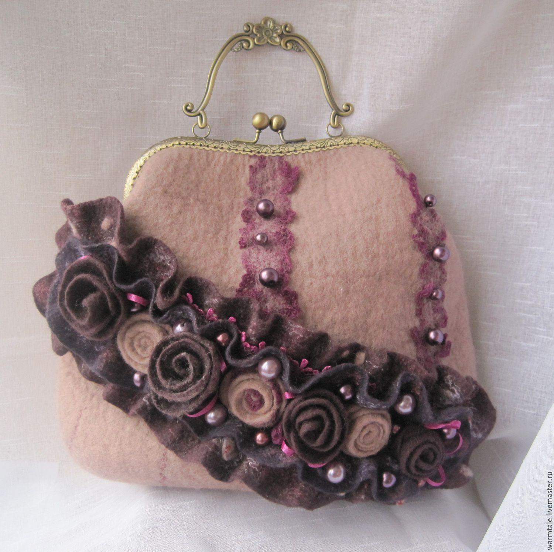 Handbags handmade. Livemaster - handmade. Buy Felted bag with flowers  beautiful handbag roses bag ...