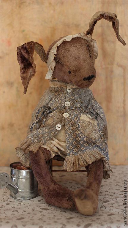 """Мишки Тедди ручной работы. Ярмарка Мастеров - ручная работа. Купить Авдотья. Коллекция """"Сели... ножки свесили"""".. Handmade. Серый"""
