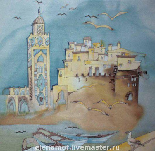 Город ручной работы. Ярмарка Мастеров - ручная работа. Купить Панно Марокко2. Handmade. Панно, картина на шелке, Батик