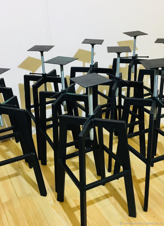 Каркасы барных стульев с регулируемой высотой Чёрные