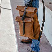 Сумки и аксессуары ручной работы. Ярмарка Мастеров - ручная работа Рюкзак-скрутка коричневый. Handmade.
