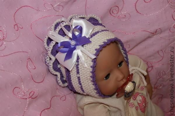 Связать красивую шапочку для новорожденного крючком