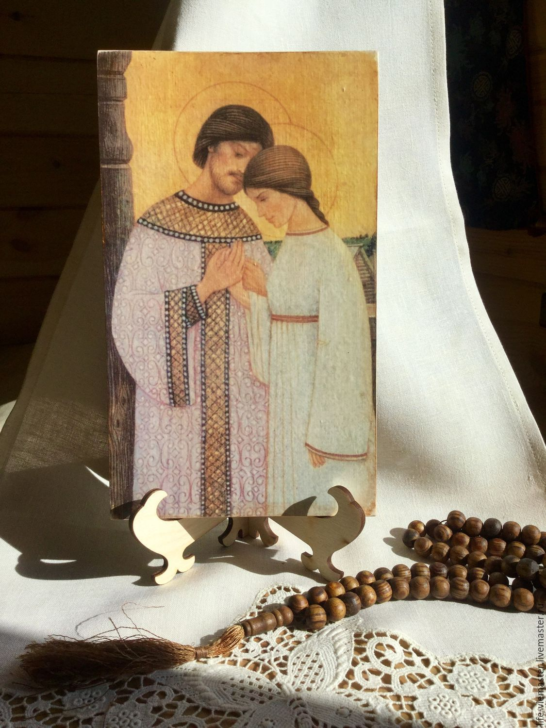Home icon ' Saints Peter and Fevronia', Icons, Altaic,  Фото №1