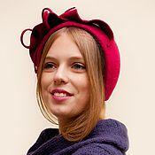 Аксессуары ручной работы. Ярмарка Мастеров - ручная работа шляпка минингитка «зимняя вишня». Handmade.