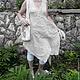 Платья ручной работы. Бохо-сарафан из вареного льна с шалью. Реелика (reelika44). Ярмарка Мастеров. Одежда из льна, льняная ткань