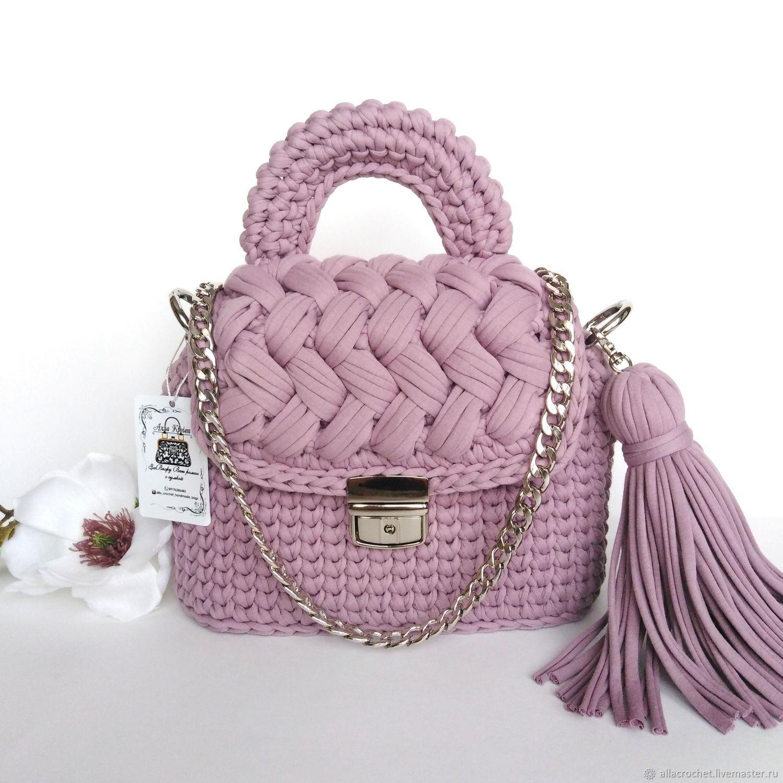 0b467b0a7a60 Женские сумки ручной работы. Ярмарка Мастеров - ручная работа. Купить Сумка  вязаная трапеция.