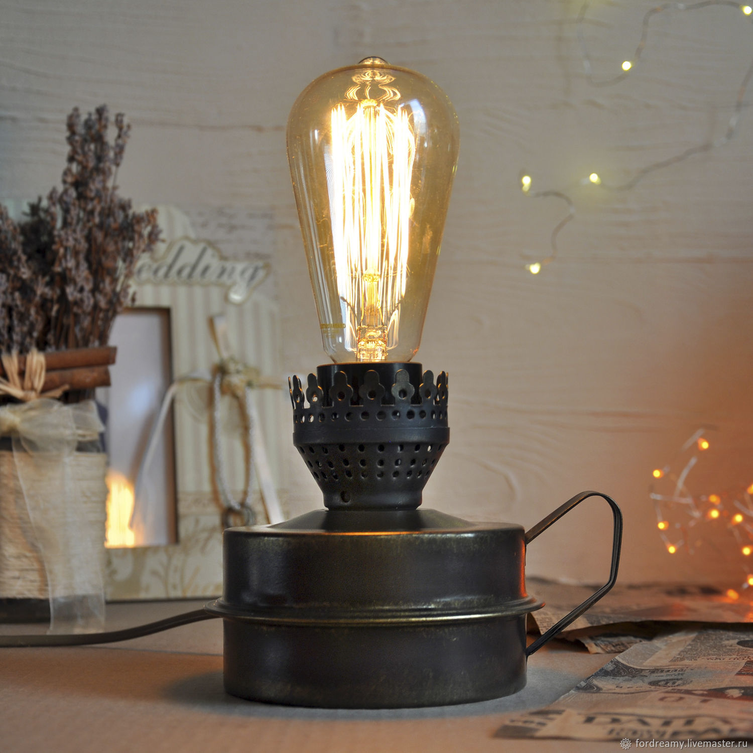Table lamp kerosene lamp electric brown loft style shop online on to buy a gift for husband brother colleague boyfriend man aloadofball Image collections