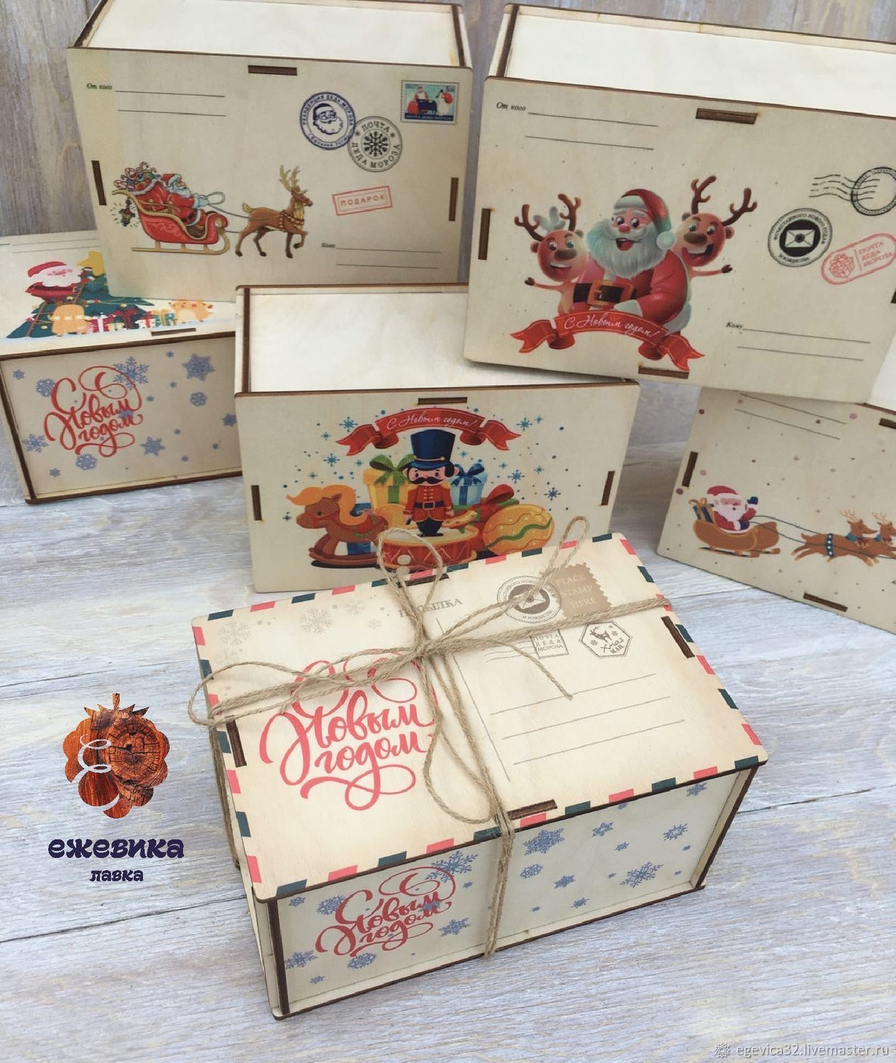 Box of chocolates for Christmas, Packing box, Bryansk,  Фото №1