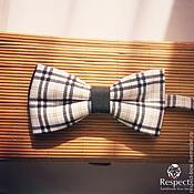 Аксессуары handmade. Livemaster - original item Tie Blackberry / black and white plaid Tarta. Handmade.