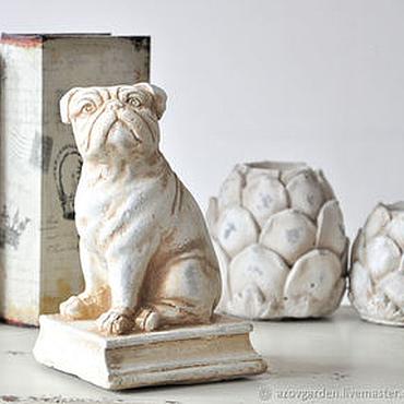 Для дома и интерьера ручной работы. Ярмарка Мастеров - ручная работа Собака держатель для книг, стоппер для двери Прованс. Handmade.