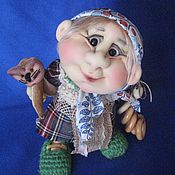 Куклы и игрушки ручной работы. Ярмарка Мастеров - ручная работа Старушка Домовушка. Handmade.