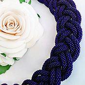 Украшения handmade. Livemaster - original item Necklace braid bead, beaded harness. Handmade.