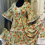Одежда ручной работы. Ярмарка Мастеров - ручная работа Платье в пол в стиле бохо.. Handmade.