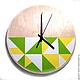 """Часы для дома ручной работы. Ярмарка Мастеров - ручная работа. Купить Часы настенные """"Треугольник"""". Часы ручной работы.. Handmade."""