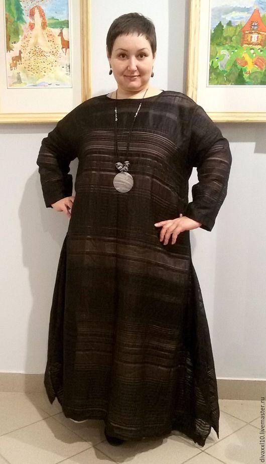 Большие размеры ручной работы. Ярмарка Мастеров - ручная работа. Купить Платье черное нарядное бохо. Handmade. Черный