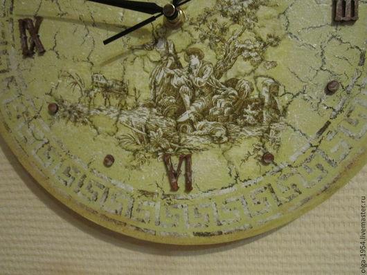 """Часы для дома ручной работы. Ярмарка Мастеров - ручная работа. Купить Часы """"Пастораль"""". Handmade. Мятный, пастушка, подарок девушке"""