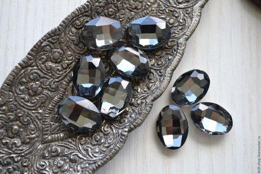 Для украшений ручной работы. Ярмарка Мастеров - ручная работа. Купить Овалы 13х18 мм Black diamond (Черный бриллиант). Handmade.