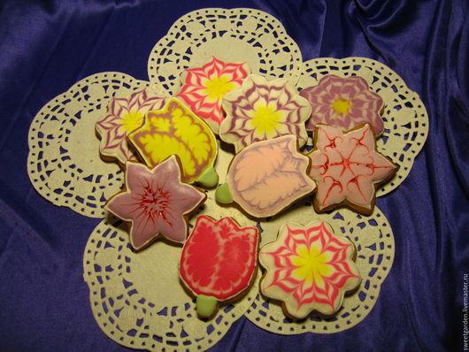 Кулинарные сувениры ручной работы. Ярмарка Мастеров - ручная работа. Купить Имбирные пряники Вальс цветов. Handmade. Комбинированный