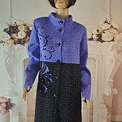 Одежда handmade. Livemaster - original item Knitted coat,demi-season, ,50-52r, ,54-56r.. Handmade.