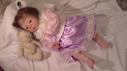 Авторская кукла реборн Ариша. Выполнена из высококачественных материалов, с нежной росписью кожи с эффектом 3-D. Куклы дети. Красивая кукла,кукла реборн купить,авторская кукла, единственный экземпляр.