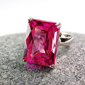 """Украшения ручной работы. Ярмарка Мастеров - ручная работа """"Аврора"""" кольцо с розовым топазом на серебре 925. Handmade."""