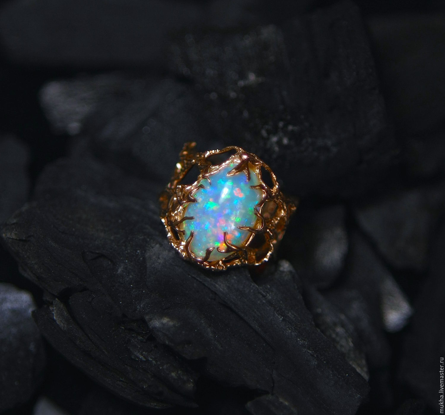 Ring 'Sirene' with opal, Rings, Moscow,  Фото №1