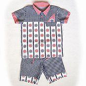 Работы для детей, ручной работы. Ярмарка Мастеров - ручная работа Костюм для мальчика - рубашка + шорты. Handmade.