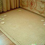 Для дома и интерьера handmade. Livemaster - original item Carpet Palace knitted cord Floral. Handmade.