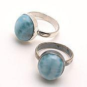 Украшения handmade. Livemaster - original item Silver ring with larimar any size to order. Handmade.