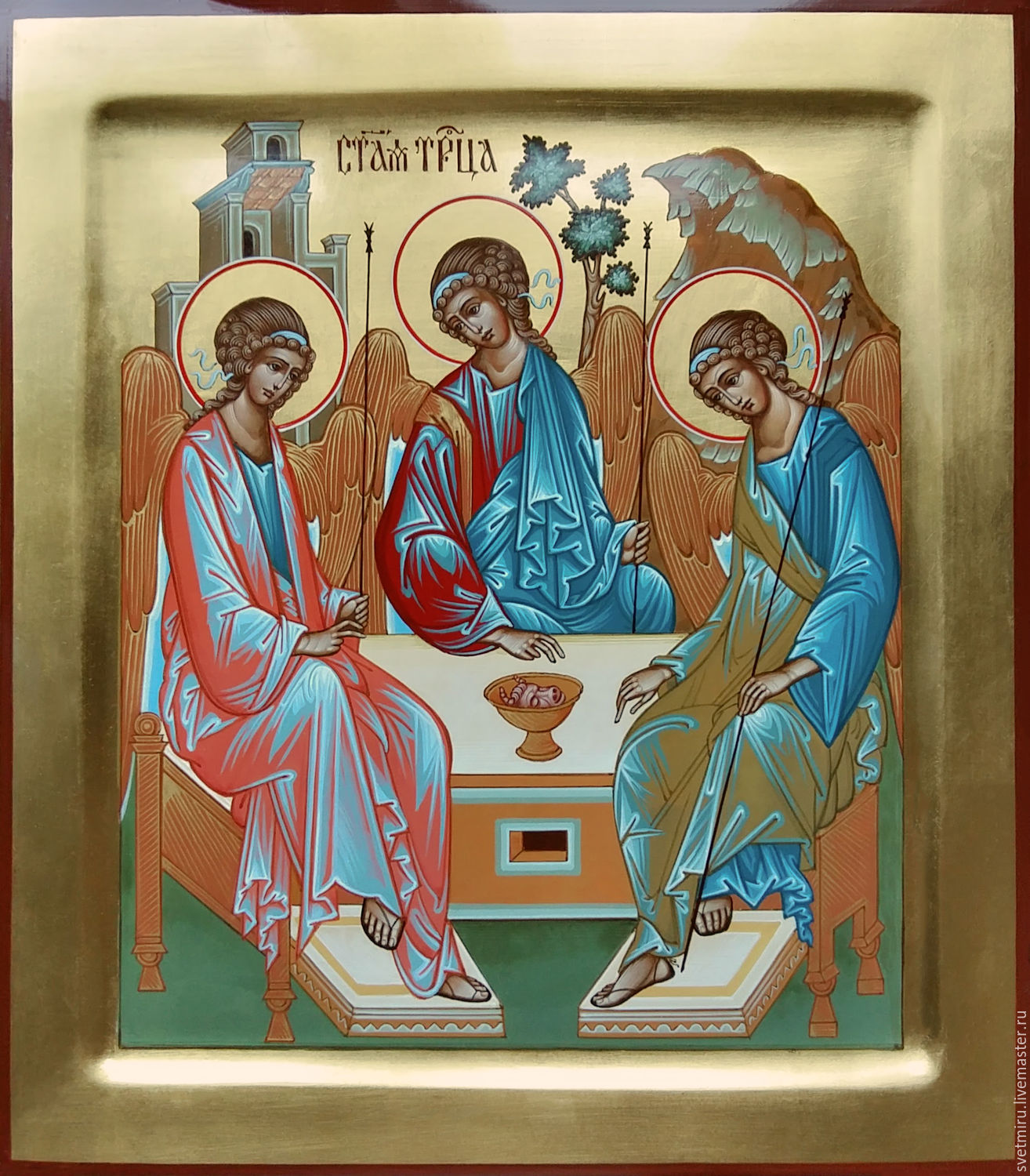 The Holy Trinity.( The Rublev Icon ), Icons, St. Petersburg,  Фото №1