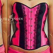 """Одежда ручной работы. Ярмарка Мастеров - ручная работа Корсет """"Hot Pink"""". Handmade."""