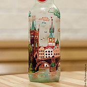"""Посуда ручной работы. Ярмарка Мастеров - ручная работа Бутылка """"Прага"""". Handmade."""